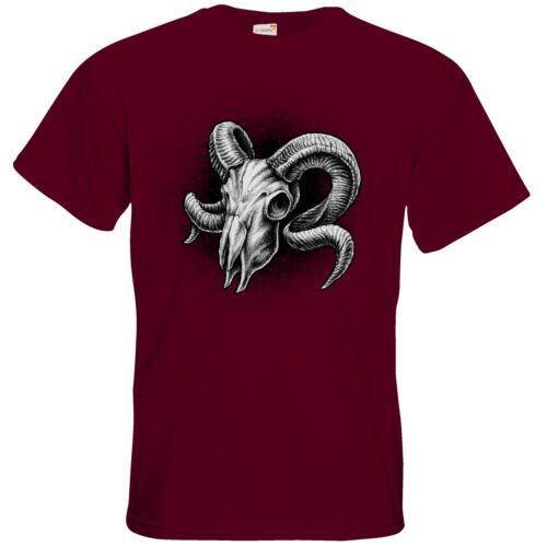 getshirts RAHMENLOS® Geschenke T-Shirt Sternzeichen Widder Skull
