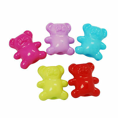 42g approx 80 Teddy Bear Beads size approx 12x14mm