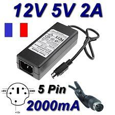 Adaptateur Alimentation Chargeur 12V 5V 2A 5 Pin Disque Dur Iomega MDHD500-TE