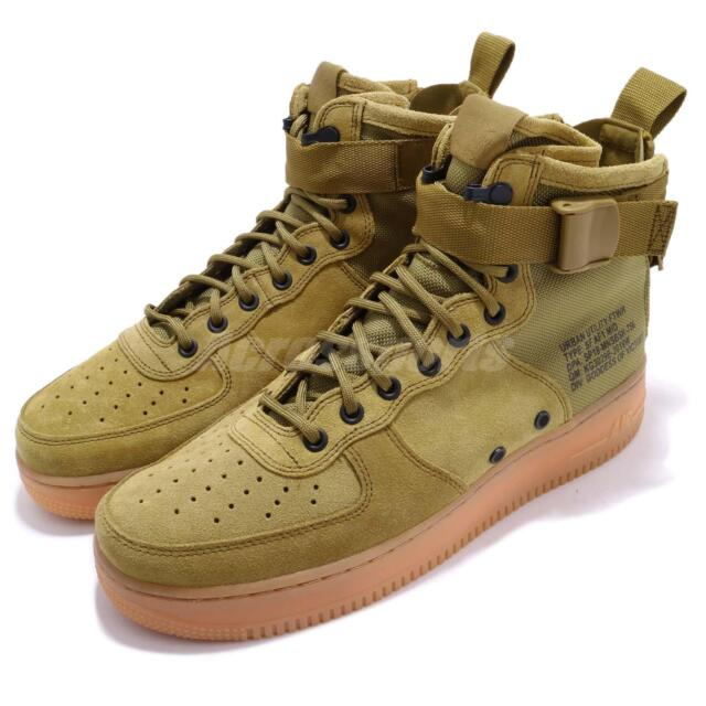 Nike SF AF1 Mid Special Field Air Force 1 Desert Moss Green Men Shoes 917753 301