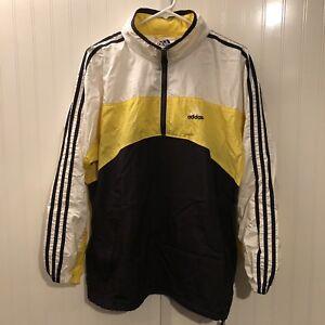 100% authentic 12dfe 9bbce Image is loading Vintage-Adidas-Windbreaker-Jacket-Track-Full-Zip-Hooded-