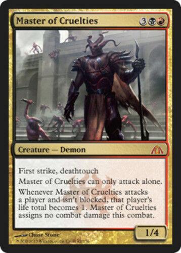 Master of Cruelties NM Dragon/'s Maze MTG Magic the Gathering Gold English Card
