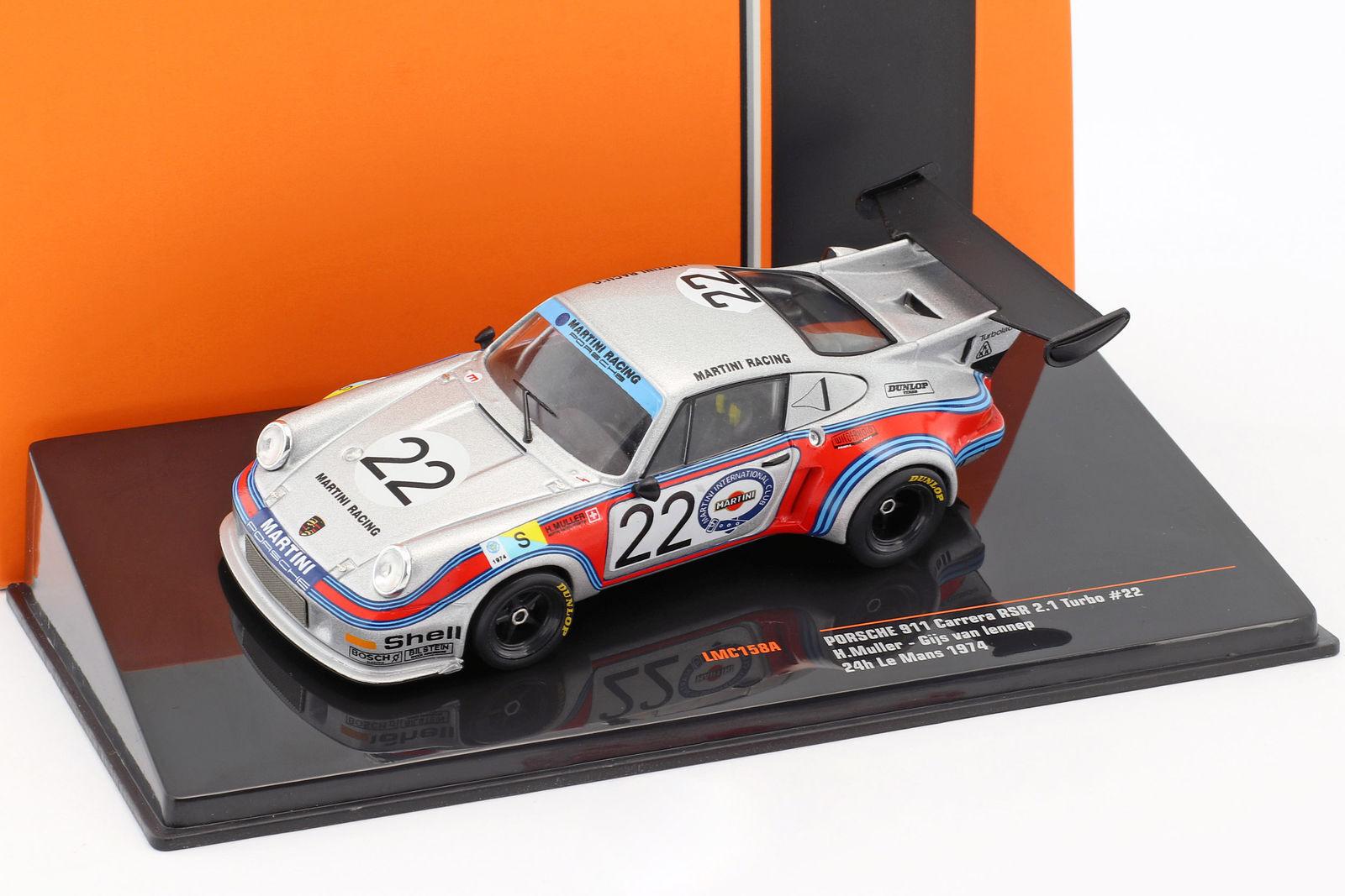 Porsche 911 Carrera RSR 2.1 Turbo Le Mans 1974 n° 22 Martini 1 43 IXO LMC158