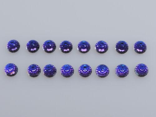 Twelve Flatback Round Faceted Stones,HELIOTROPE 12 SWAROVSKI #4869 6mm