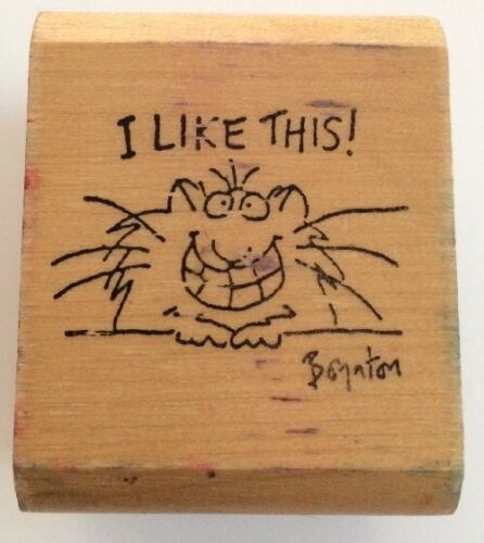 Sandra Boynton I Like This Rubber Stamp cher Kidstamps Wood Vintage Rare 1983