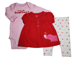 carters baby girl set Size 3m RED NWT