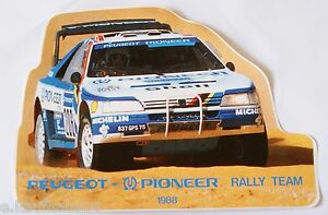 Aufkleber-PEUGEOT-405-Turbo-16-PIONEER-Rallye-Team-Paris-Dakar-1988-Sticker