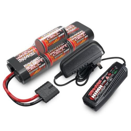 2984 NEW Traxxas 2-Amp Wall Charger /& 3000mAh 7-Cell 8.4V Hump Pack Battery