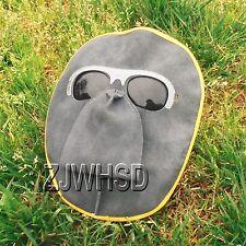 Portable Front Protected Leather Lens Glasses Welder Welding Hood Helmet Mask