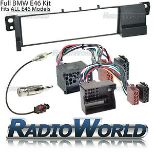 BMW-3-Series-E46-Radio-Fascia-Panel-Adapter-Surround-Plate-FULL-Fitting-KIT
