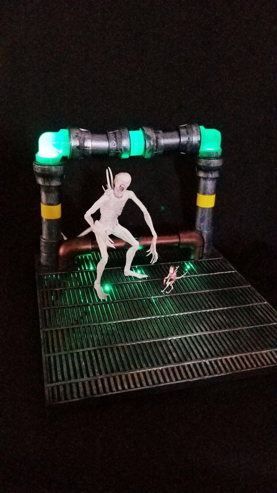 Gree Alien azione cifra Base Base Base Diorama NECA Xenomorph Superhero TMNT Xenowerx cacbcd