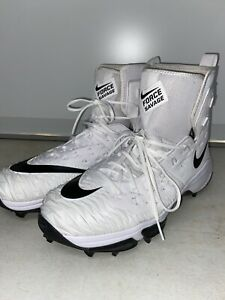 16W-Nike-Zoom-Force-Savage-Elite-Men-039-s-Football-Cleats-16-Wide-White-Black-NEW