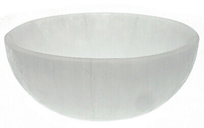 "4/"" SATIN SPAR SELENITE Crystal Charging Bowl DISCOUNT : IMPERFECT CARVED"