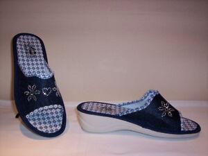 timeless design 423b5 10a42 Dettagli su Futurelle ciabatte aperte profumate donna Made in Italy estive  da casa blu nuove