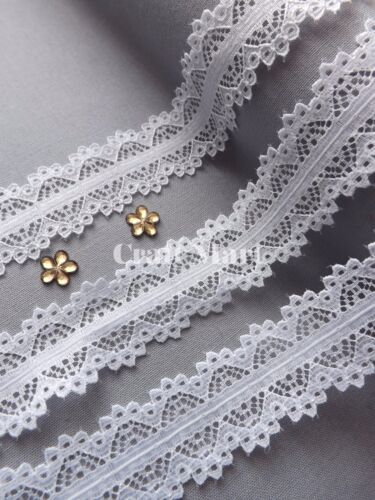 VINTAGE antique Snow white LACE RIBBON WEDDING sewing Bridal Shabby dress diy
