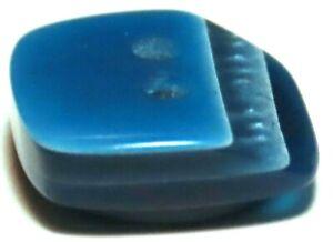 VINTAGE LEA STEIN RHODOID BUTTON ~ SHADES OF AZURE BLUE LAMINATES