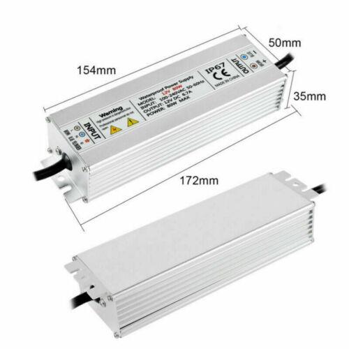 DC12V 60W-200W LED Trafo Transformator Netzteil IP67 für LED Strip 5A-16,7A
