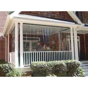 Image Is Loading Clear Vinyl Porch Patio Tarp Waterproof Enclosure Panels
