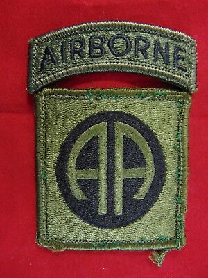 Army Green Beret Special Forces Subdued OD Green Patch With Airborne Tab U.S