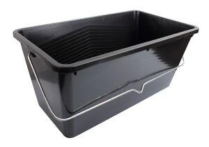 ProDec-25-Litre-Large-Black-Plastic-Scuttle-Paint-Kettle-With-Handles-BPSL