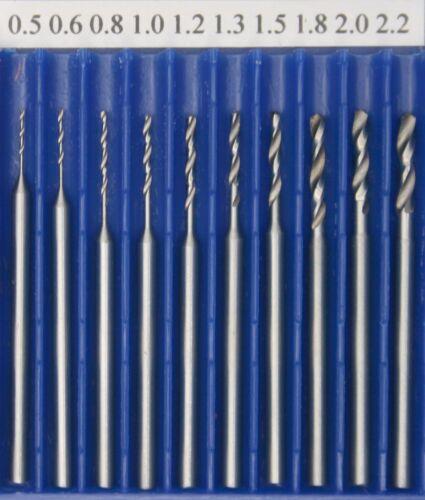 90047 GG-Tools Miniatur HSS Spiralbohrer Sortiment von 0,5 2,2mm 10tlg.