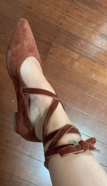 Charing ❤️❤️❤️ Cross 39 Or 8  Leather Mimco Ballet SANDALS SHOES Flats Cinnamon