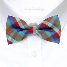 BRAND NEW* MULTI-COLOR HARD-TO-FIND CHECKED TUXEDO BOYS BOW TIE B1000