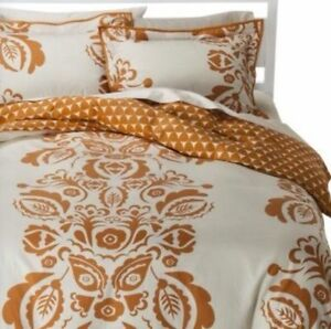 Image Is Loading Room 365 Orange Exploded Paisley Duvet Cover Set
