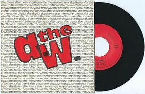 """7"""" AFTER THE WAR 7/Si cambia (private 85) obscure Italian indie rock VG+"""