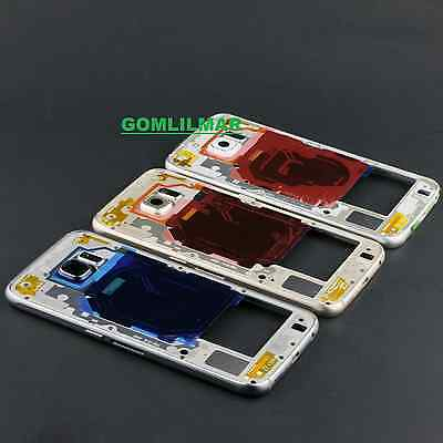 Middle Frame Bezel Repair Parts W/ NFC Chip Qi For Samsung Galaxy S6 g920    eBay