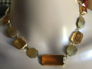 Deco Choker Collar Necklace Vintage Art Glass Necklace JEWELRY gift for her under 85