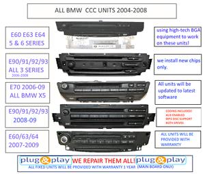 Any Bmw Ccc Unit Navigation Repair Service E60 E92 E63 E70 E9x Coding Included Ebay
