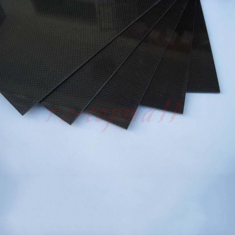500mm500mm1.0mm 3K LUCIDA armatura tela Pannello Piastra in fibra fibra fibra di autobonio foglio RC Aereo 1220d2