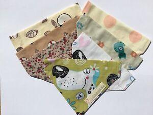 Handmade-DOG-BANDANA-Neckerchief-Scarf-Slide-On-Collar-Puppy-Pet-Cat-Dog