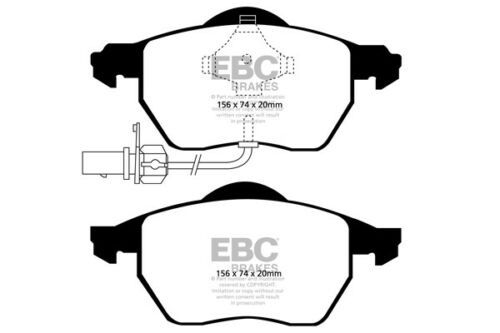 EBC Ultimax Front Brake Pads for Audi A4 (B6) 2.0 (2001  04)