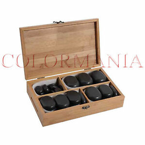 SET 36 PIETRE MASSAGGIO PROFESSIONALE ESTETISTA KIT HOT STONE MASSAGE THERAPY