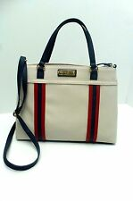 TOMMY HILFIGER Handbag *Cream/Navy/Red Satchel Shoulder Tote $89 New