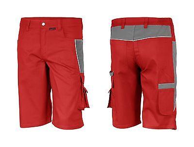 Arbeitshose Kurze Hose Bermuda Shorts Arbeitskleidung Rot Grau Größe 38-68