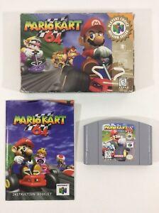 Details about Mario Kart 64 Nintendo 64 N64 CIB Complete N 64