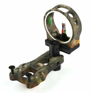 Archery-3-Pin-Camo-Fiber-Optic-Sight-029-Compound-Bow-Hunting-Sight-US