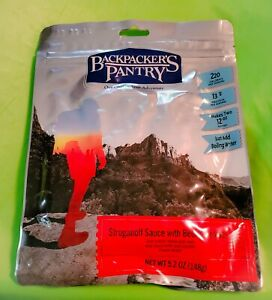 Backpackers Pantry BEEF STROGANOFF WITH NOODLE 5.2oz.- 2 Servings FACTORY SEALED