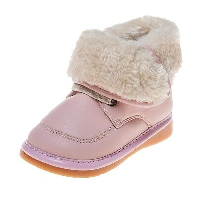 LITTLE BLUE LAMB Squeaky Schuhe Stiefel Boots Plüsch pink NEU