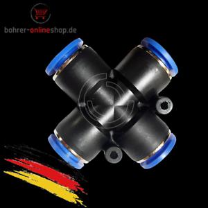 Ø 12mm Pneumatik Druckluft Kreuzverteiler-Schnellverbinder PZA