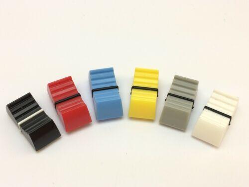 3x botón para schiebepotenziometerrojo, azul, amarillo, negro, blanco, gris