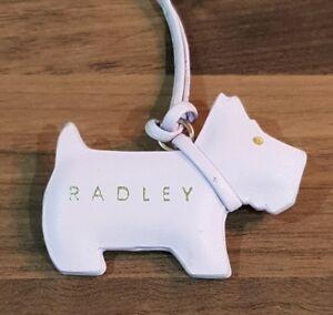 NEW RARE  DESIGN GENUINE RADLEY METALLIC LEATHER SCOTTY DOG HANDBAG CHARM TAG