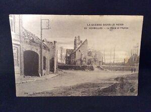 La-Guerre-Dans-Le-Nord-WW1-France-Postcard-Damage-From-Bombing-In-Vermelles