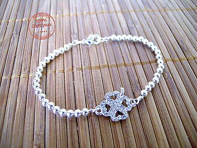 Livraison gratuite Wholesale sterling solid silver Fashion Chaîne Bracelet XLSB 050