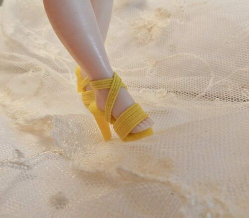Cissette All Yellow Wide Toe High Heel Doll Shoes~Replica Of Qrig.