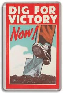 Image Is Loading Dig For Victory Ww2 Poster Fridge Magnet