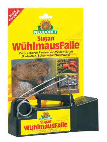 Sugan WühlmausFalle NEUDORFF Wühlmaus Falle Schermäuse Erdratten Mollmäuse